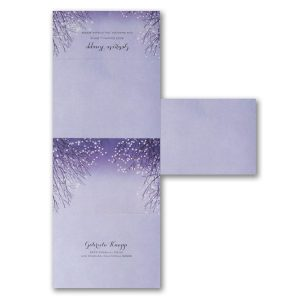 Shimmering Lights Seal 'n Send Wedding Invitation alt