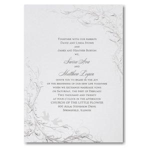 Shimmering Silver Sep 'n Send Wedding Invitation Icon