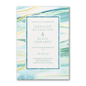 Shimmering Waves Wedding Invitation Icon