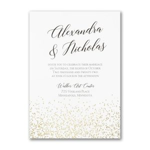 Shining Confetti Wedding Invitation Icon