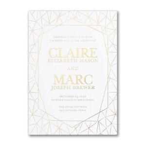 Shining Geometric Wedding Invitation Icon