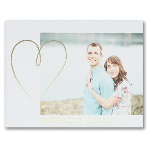 Shining Heart Save the Date Postcard Icon