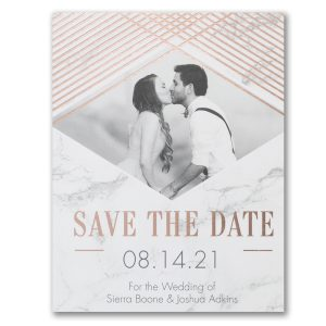 Shining Marble Photo Save the Date Postcard Icon