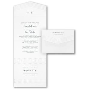 Shining Pearls Seal 'n Send Wedding Invitation Icon
