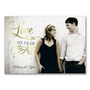 Shiny Love in Gold Wedding Invitation Icon
