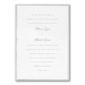 Silver Border Elegance Wedding Invitation Icon