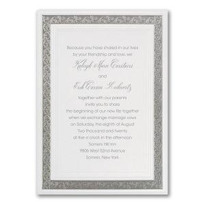 Silver Love Wedding Invitation Icon