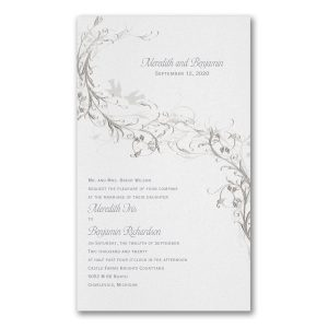 Silver Vines Wedding Invitation Icon
