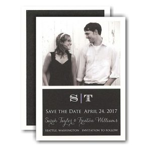 Simple Beauty Photo Save the Date Card