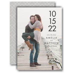 Simple Date Save the Date Card Icon