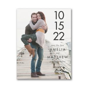 Simple Date Save the Date Magnet Icon