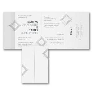 Simple Shapes All in One Wedding Invitation Icon