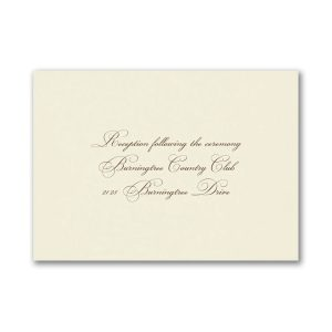 Simple Sweetness Reception Card