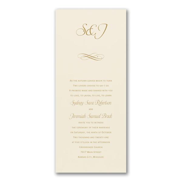Simple Sweetness Wedding Invitation