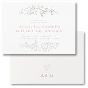 Simple Vines Wedding Invitation Icon