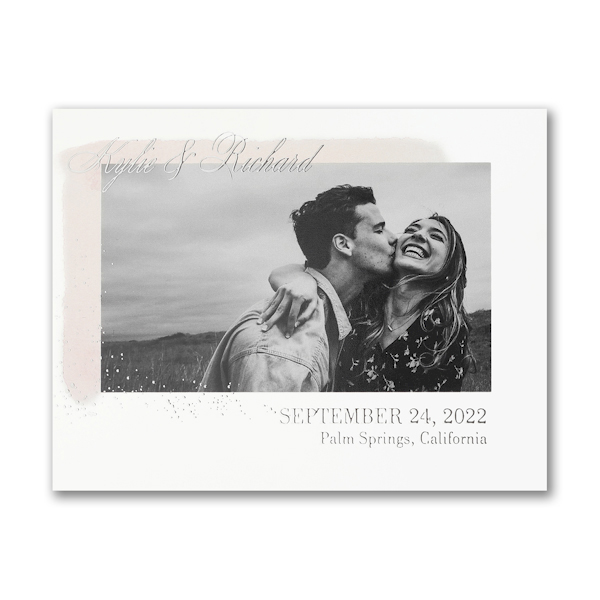 Simplistic Date Small Save the Date Card Icon