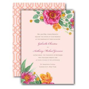 Simply Floral Wedding Invitation Icon