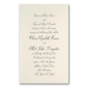 Simply Luxe in Ecru Engraved Wedding Invitation Icon