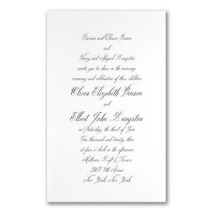 Simply Luxe in White Engraved Wedding Invitation Icon