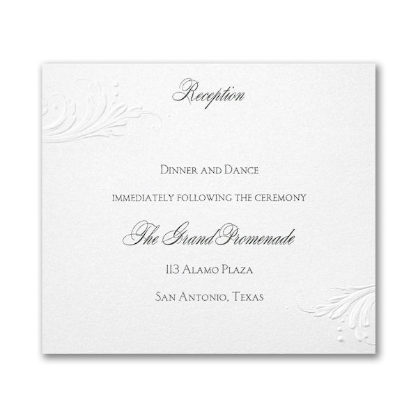 So Romantic Pocket Reception Card