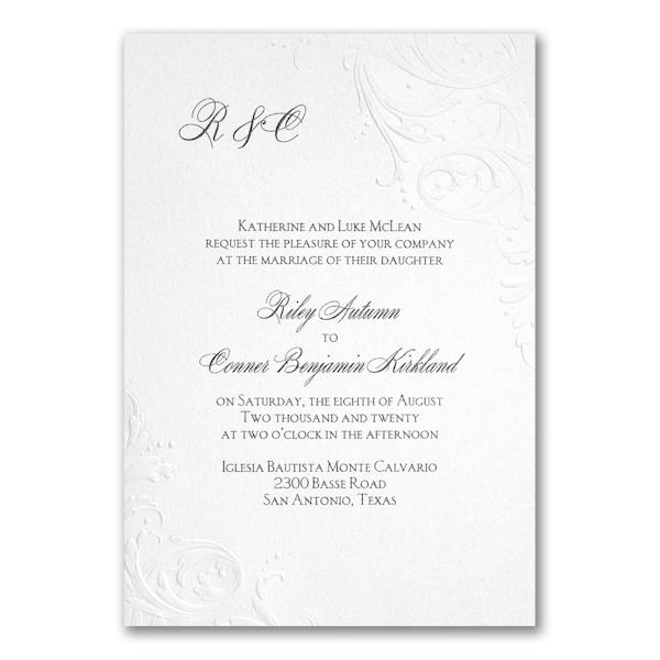 So Romantic Wedding Invitation