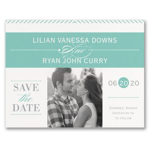 Social Typography Photo Save the Date Card Icon