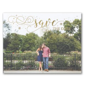Sparkling Date Photo Save the Date Postcard Icon