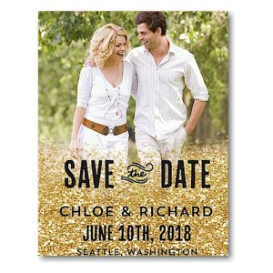 Spilled Glitter Save the Date Magnet Icon