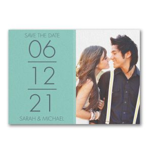 Stacked Love Save the Date Card Icon