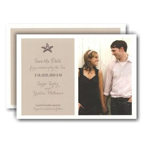 Starfish Beach Photo Save the Date Card Icon