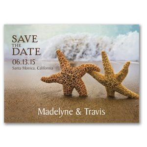 Starfish Save the Date Postcard Icon