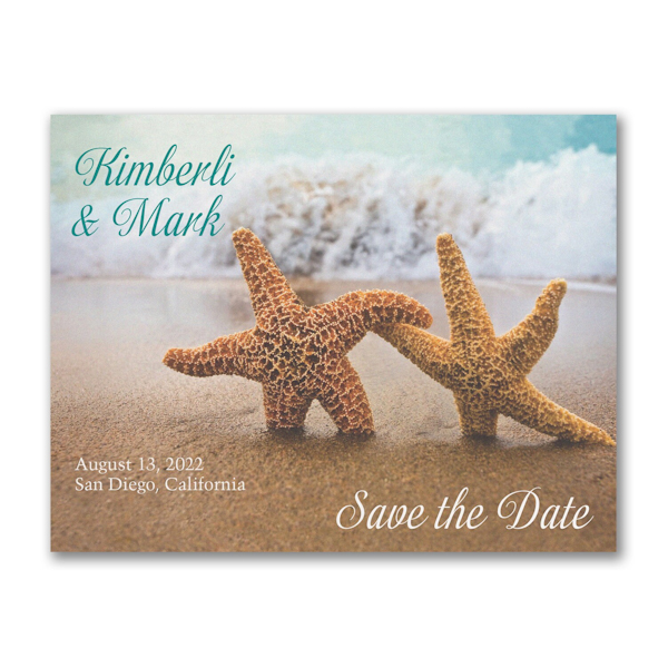 Starfish in the Sand Save the Date Card Icon