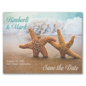 Starfish in the Sand Save the Date Magnet Icon