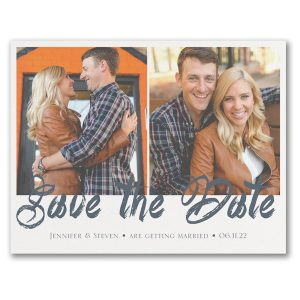 Stylish Brush Stroke Save the Date Card Icon