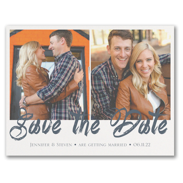 Stylish Brush Stroke Save the Date Magnet Icon