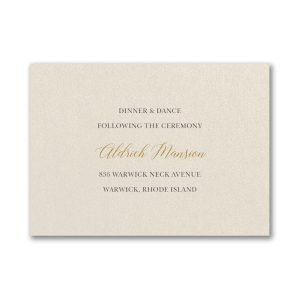 Stylishly Layered in Ecru with Berry Reception Card