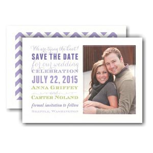 Subway Purple Lime Photo Save the Date Card Icon