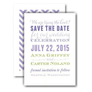 Subway Purples and Lime Save the Date Card Icon