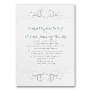 Swirled in Silver Wedding Invitation Icon