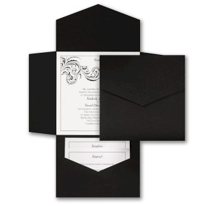 Swirling Style Pocket Wedding Invitation Icon
