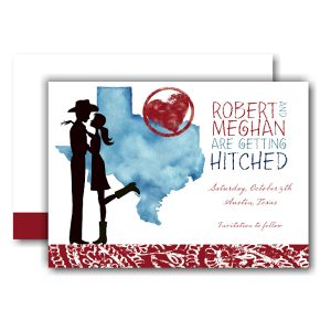 Texas Couple Save the Date Card Icon