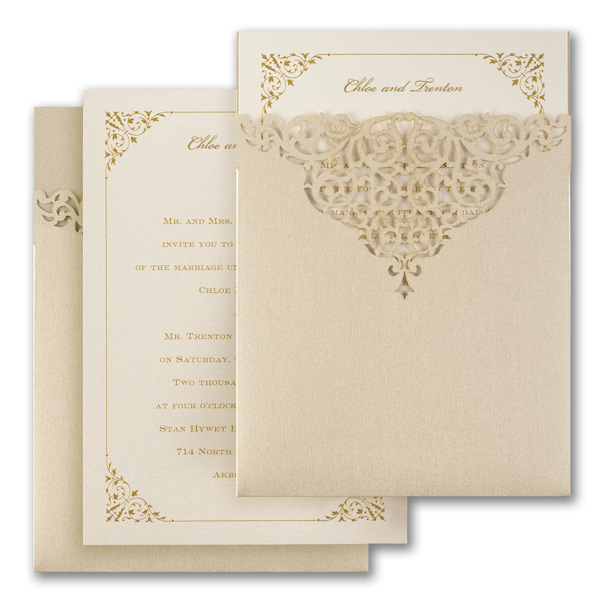 Through the Shimmer Wedding Invitation