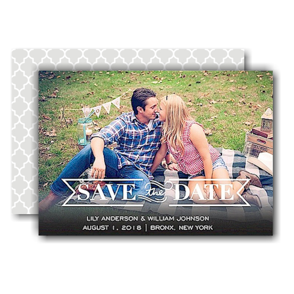 Timeless Save the Date Card