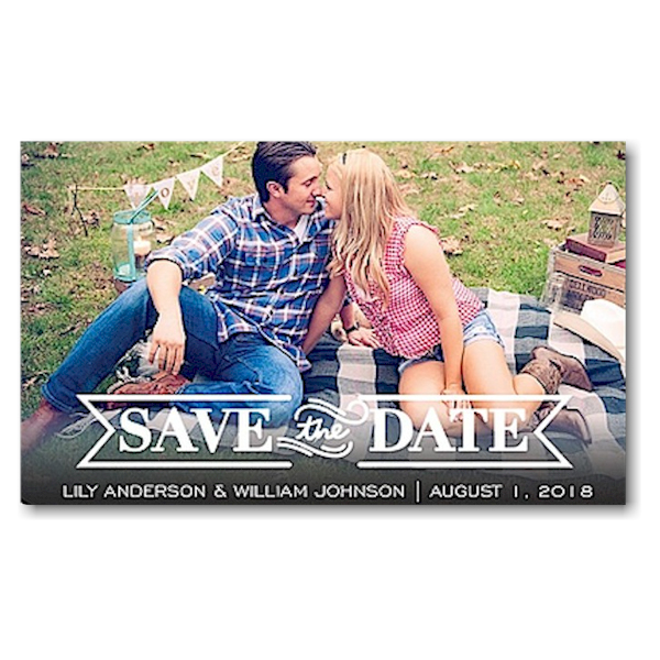 Timeless Save the Date Magnet