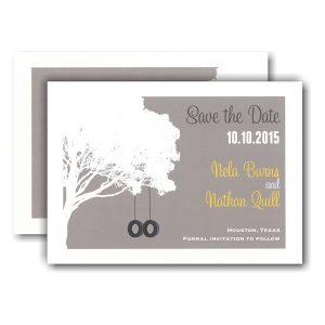 Tire Swings Save the Date Card