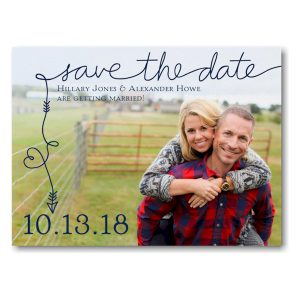 To the Point Photo Save the Date Card