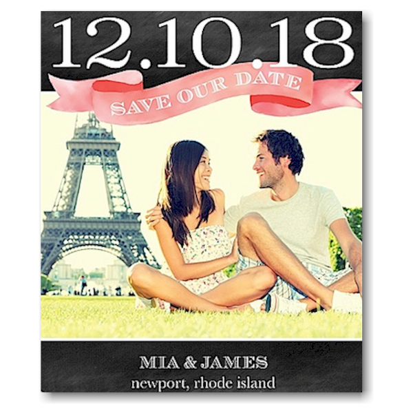 Top Banner Save the Date Magnet