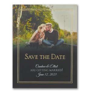Traditional Date Photo Save the Date Postcard Icon