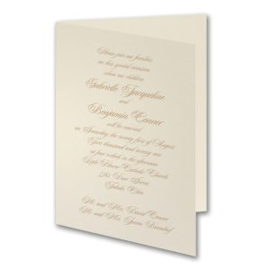 Traditional Grace Wedding Invitation
