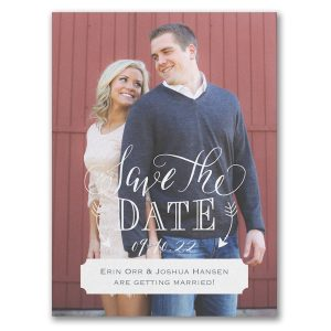 Traditional Romance Save the Date Card